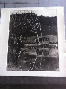 first print of lake house